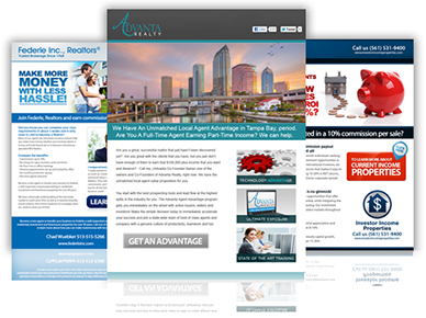 real estate agent email recruiting flyers ecampaignpro