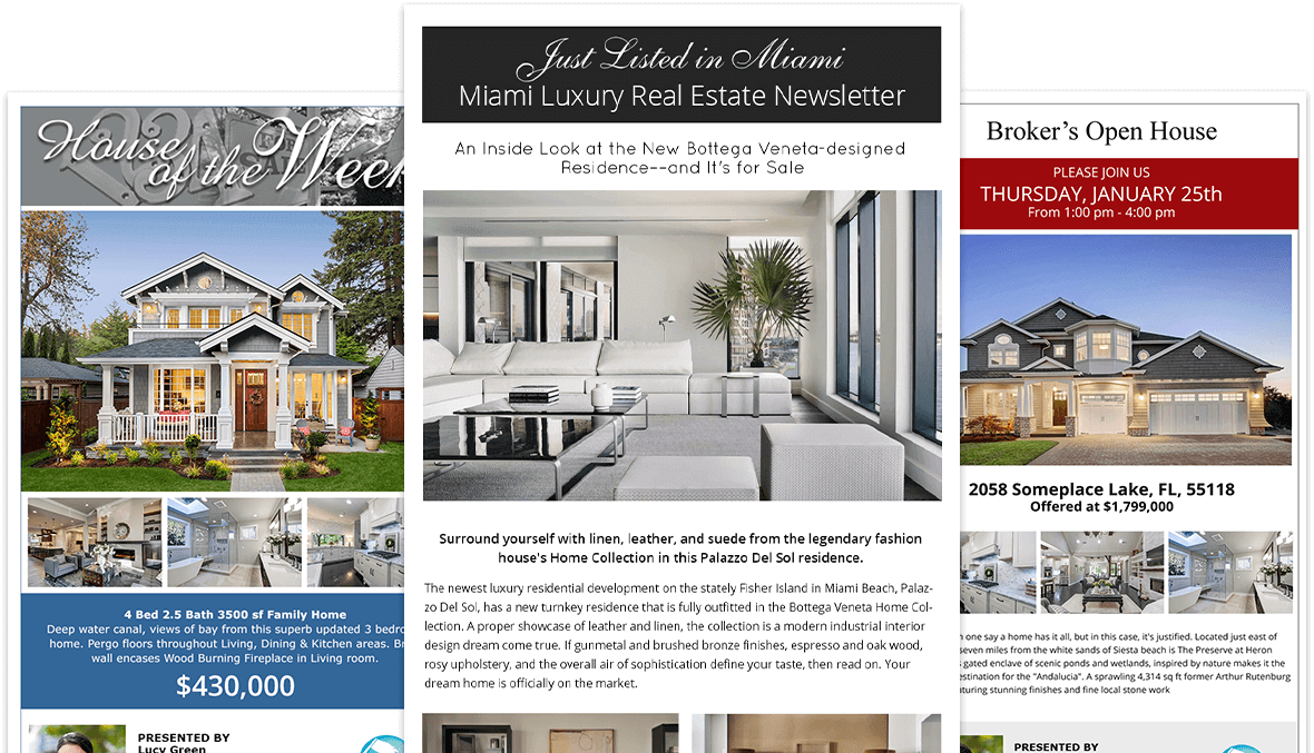 Real estate email flyer templates